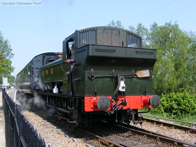 1638 gets into its stride on departure from Wittersham Road