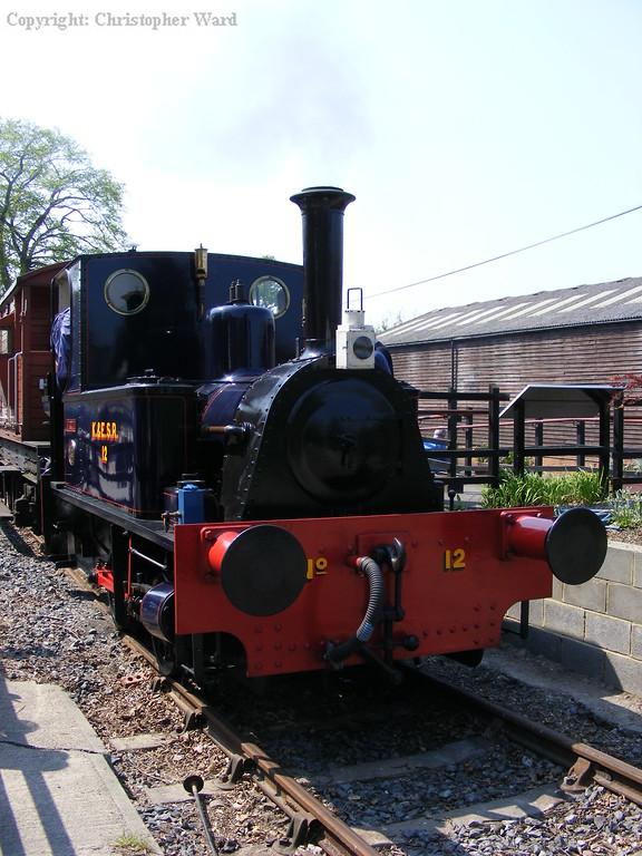 The K&ESR engine Marcia at Tenterden on brake van shuttles