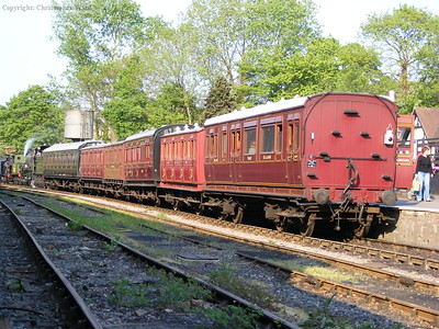 The vintage carriages at Tenterden