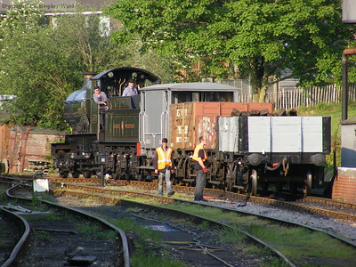 Truro shunts the wagons for the mixed