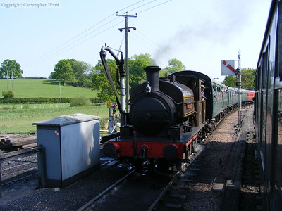 Charwelton with the next Tenterden train in the loop