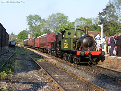 The tank engines wait while the shunting is undertaken