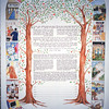 KPC 01 - Two trees that come together on top.  Varied interests of couple make up border.