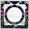 K 006 - Spring flowers against a navy blue background.