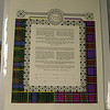 """KPC 04 - Bride and groom were both of Scottish descent and these were their plaids.  Also they wanted """"Irish knots"""" and I did those in paper cut on top and border around Ketubah."""