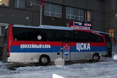 Автобус хоккейной команды ЦСКА