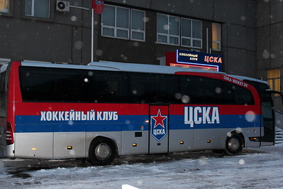 Автобус хоккейного клуба ЦСКА
