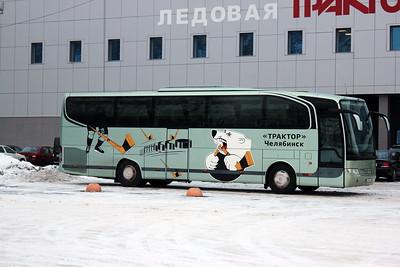 """Автобус хоккейной команды """"Трактор"""" (Челябинск)"""