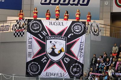 Группа поддержки и баннер