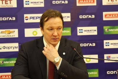 Главный тренер нижегородского Торпедо Петерис Скудра и главный тренер челябинского Трактора Карри Киви прокомментировали матч, в котором Торпедо выиграло со счетом 5:2.