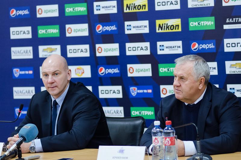 Главный тренер челябинского Трактора Андрей Николишин и главный тренер нижнекамского Нефтехимика Владимир Крикунов прокомментировали матч, в котором Трактор выиграл со счётом 6:2.