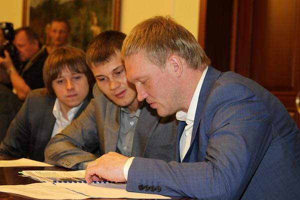 Встреча губернатора Челябинской области Михаила Юревича с игроками и тренерами