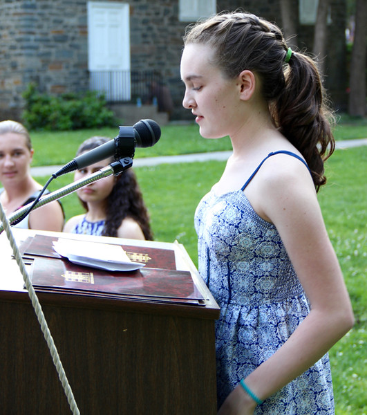 photos of kingston high school essay contest winners  daily  kingston high school senior margaux seche reads from her essay margaux a part