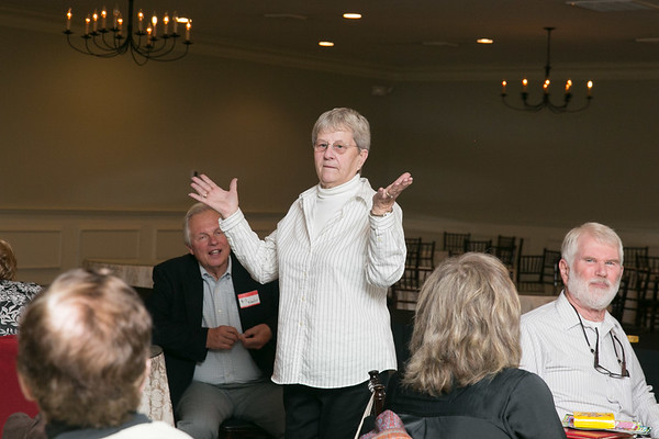 Rosalie Caswell-Bohman remarking on what a great event we enjoyed and looking forward to our 55th