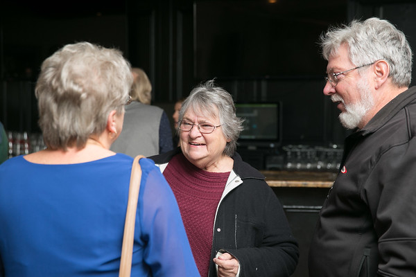 Rochelle Cyr-Alix  with Doris Baribeau-Hubert and her husband Kevin