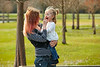 Mother and daughter playint together in park
