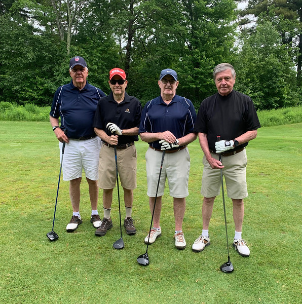 From left, Roger Brown of Andover, John Feely of Westminister, Jack Collins of Newburyport and Bob Majeau of Chelmsford