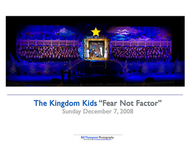 FEAR NOT FACTOR SUNDAY SHOW 10X8 ART CARD II