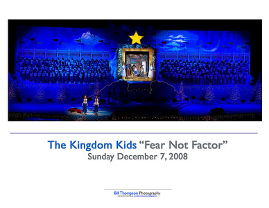 FEAR NOT FACTOR SUNDAY SHOW MANGER 10X8 ART CARD