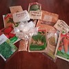 A sample of our Seed and Feed program FREE SEED package. We provide SAVED seeds from our Heirloom varieties and also commerically packaged seeds