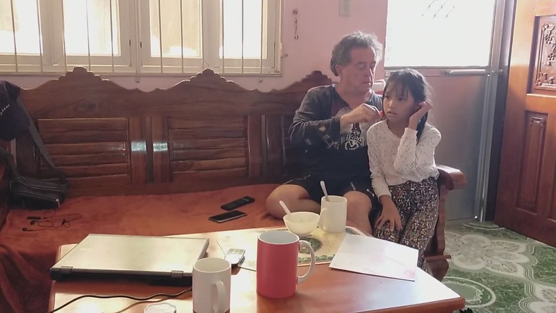VIDEO,  CLick the photo to watch, UNCLE JOHN Combing Chin Chin's hair. She made this Candid video and did the editing and added music, ALL BY HERSELF. She told me I was the only person that combed her properly. Every one else HURT HER!