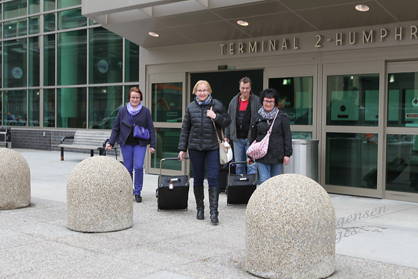 Päivi, Marko, Paula, Johanna Arrive in USA!