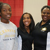 (Center) Lakeisha  Ballard set up the recruitment effort for CDU's MMDSON and Dr. Rebecca Harris Smith experienced her first KJLH Womens' Health Expo.  Lakeisha's daughter Lauren (left) volunteered for the day. (Thank you!)