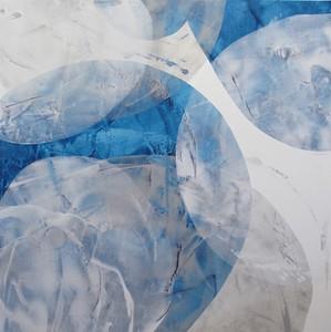 Blue Tumble Square 1-Iorillo, 50x50 canvas