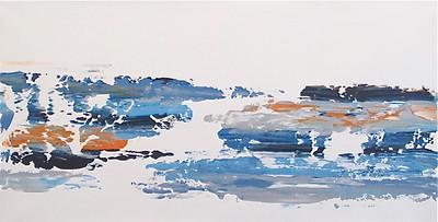 Sliding Sky-Iorillo, 72x36 on canvas