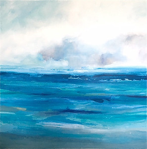 """Oceans of Energy-Hibberd, 40""""X40"""" on canvas (AERS16-7)"""