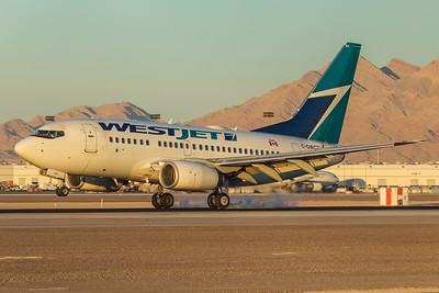 WestJet Airlines Boeing 737-6CT C-GWCT 11-25-17
