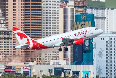 Air Canada Rouge Airbus A319-114 C-GARJ 3-28-18