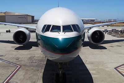 Cathay Pacific Boeing 777-367ER B-KQK 6-14-17 2
