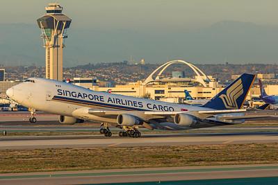 Singapore Airlines Cargo Boeing 747-412F 9V-SFO 1-31-18 2