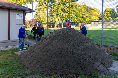 A big pile of sand