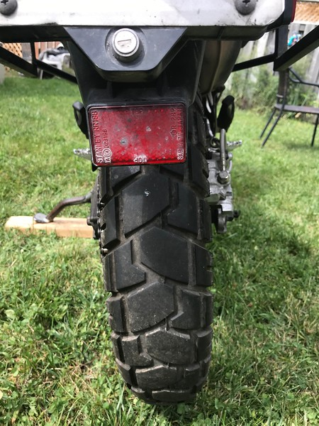 Shinko 705 tires need replacing.  Specifically because the rubber has off-gased and are now old and on their way to brittle.  More than 5 years old meaning they have to go...