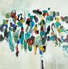 Modern Flora-Baines, 40x40 on canvas
