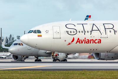 Avianca Airbus A330-243 N342AV 11-28-17 3