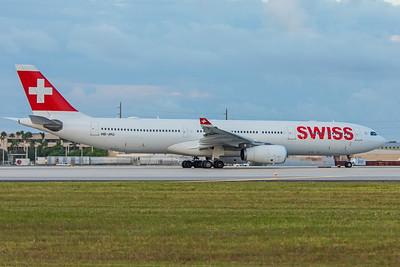 Swiss Airbus A330-343 HB-JHJ 11-28-17