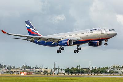 Aeroflot Airbus A330-243 VQ-BBG 11-28-17