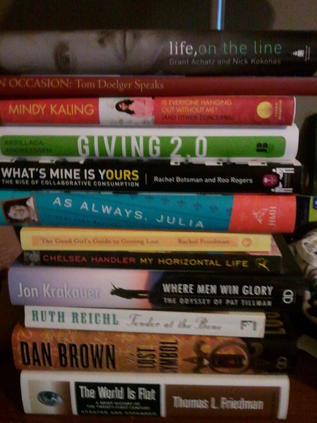 The 2012 challenge- catch up on my reading pile.  12 books equals one per month.  Ready, go!