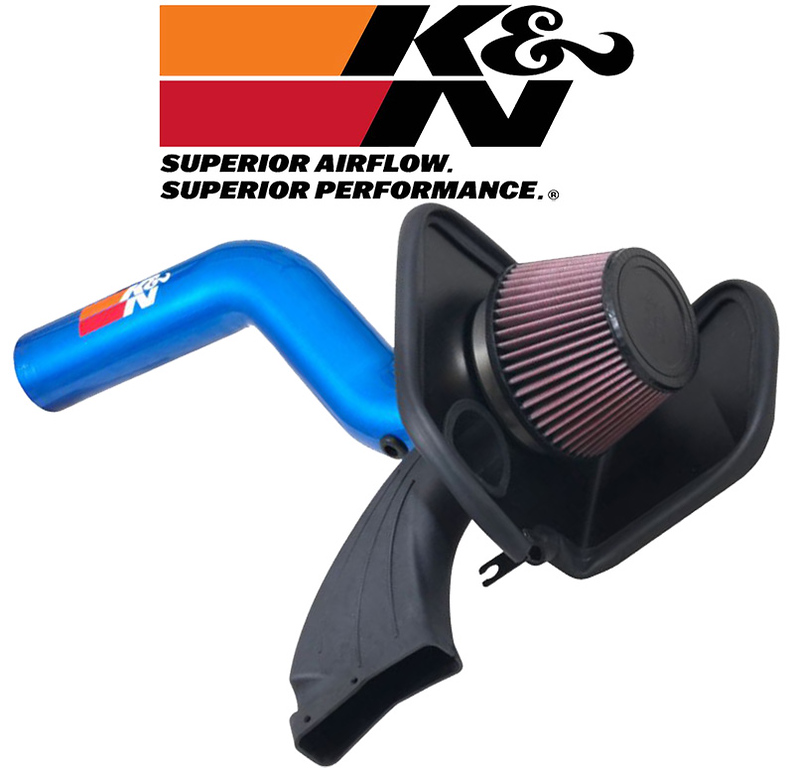 Fits Ford Focus RS 2016-2018 2.3L Blue K/&N 69 Series Typhoon Cold Air Intake Kit