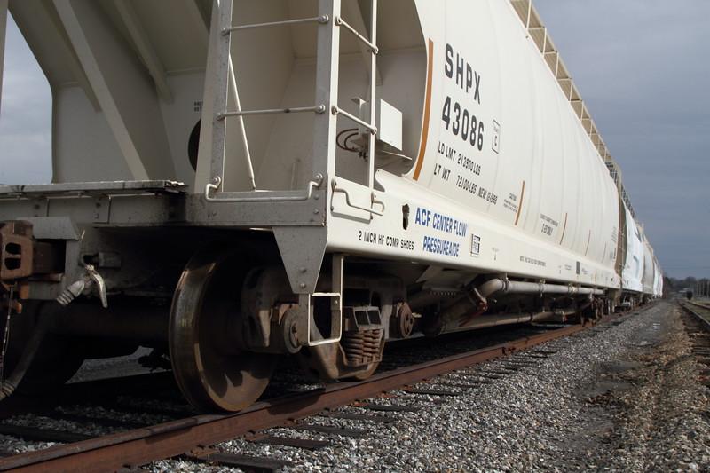 Train Hopper Car On Track