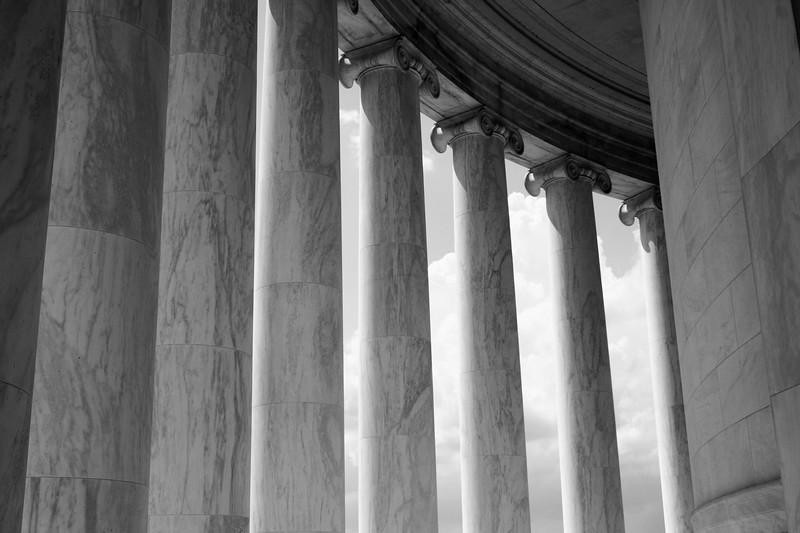 Columns of Jefferson Memorial, Washington DC