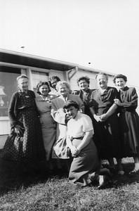 Aunt Amie, Bernice, Cousin Patty, Johanna Blechle, Irene, Therese, Helen, Myrtle