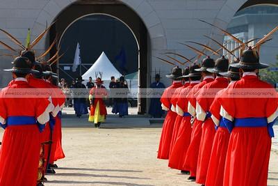 Changing of the Royal Guard Ceremony, Gyeongbokgung Palace, Seoul, South Korea