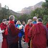 Organizing candlelight vigil at Amitabha Stupa  in Sedona, Arizona, by Ani Dawa