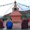 Prayers at Amitabha Stupa  in Sedona, Arizona, by Ani Dawa