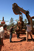 WM-200-72 Moving Buddha to new location at Amitabha Stupa - by Wib Middleton