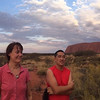 Amanda Worrall with Lopon Pem @ Uluru, Australia November 2015